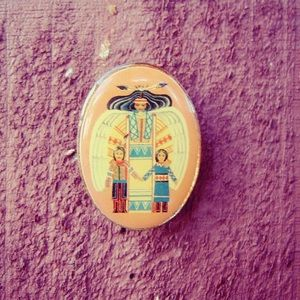 Vintage Native American pin